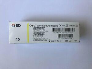 "BD Tuohy Epidural Needles (10) 20G x 3.5"""