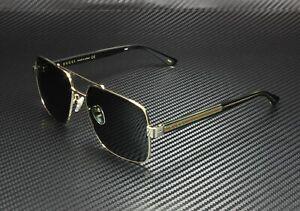 GUCCI GG0529S 001 Aviator Gold Black Crystal Grey 60 mm Men's Sunglasses