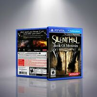 Silent Hill: Book Of Memories - PlayStation Vita Cover and Case. NO GAME!!