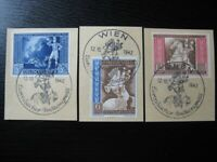 THIRD REICH 1942 European Postal Congress stamp set w/ commemorative cancel!