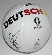 BASTIAN SCHWEINSTEIGER signed *GERMANY* EURO CUP 2016 Soccer ball W/COA FIRE