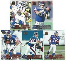 1997 Pacific Silver & Copper NY New York Giants 5 card lot