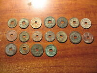Lot of 18 diffenrent ancient Annam coins of Nguyen dynasty 1802-1945