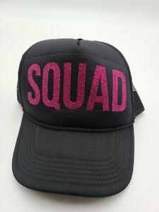 Squad Pink Glitter Hot Ponytail Baseball Cap Women Hat Snapback Sun Sport