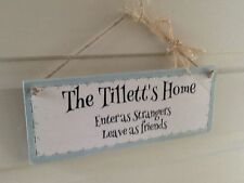 Family Names Custom Made Decorative Indoor Signs/Plaques
