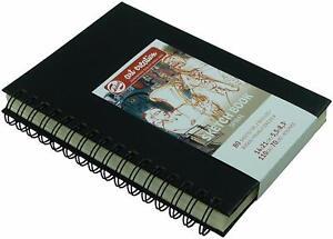 Hardback Sketch Book 80 Sheets Spiral Bound 14 X 21cm 110gsm - Royal Talens