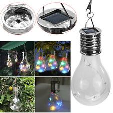 Solar Rotatable Outdoor Garden Camping Hanging LED Light Lamp Bulb Waterproof TC