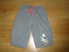 Boys grey trousers with orange lining, MOTHERCARE, 6-9 months