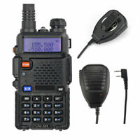Baofeng UV-5R + Original Speaker Dual Band 2m/70cm Band VHF UHF Two-way Radio