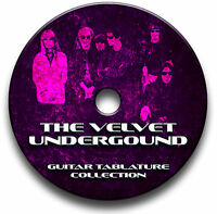 THE VELVET UNDERGROUND ROCK GUITAR TAB TABLATURE SONG BOOK SOFTWARE CD