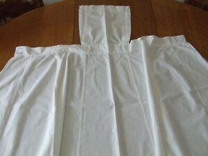 Vintage Plain White Linen Nurse Apron.