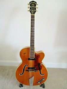 Hofner Guitar:President:Vintage 1959:Archtop:Electro-acoustic:Road worn