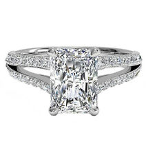 Split Shank 2.00 Carat Radiant GIA  Certified Diamond Engagement Ring Platinum