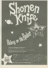 "(ANEW11) ADVERT 7X5"" SHONEN KNIFE : RIDING ON THE ROCKET TOUR DATES"