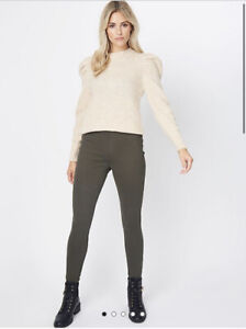 George Bnwt Khaki Twill Pull On Trousers Jeggings Size 16