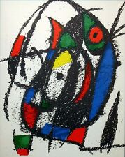 Joan Miro II # III 1975 framed Original Lithograph Art by Maeght Editeur, Paris