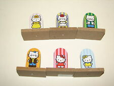 Sanrio Ever Great Toy Hello Kitty Family Wood Wooden Figure Statues Lot 2012 3""