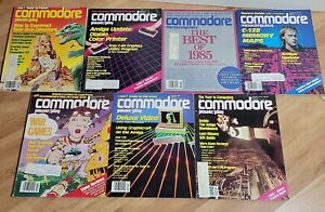 Vintage Commodore 64 Magazine Lot power play and microcomputers lot of 7