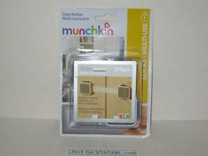 Munchkin Xtra Guard Dual Action Multi Use Latches 2 Pack Secure Drawers,Cabinets