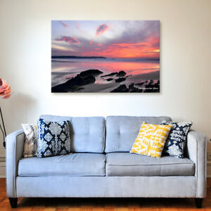 Woolacombe Glow - Various Sizes - North Devon Canvas - Ready to Hang