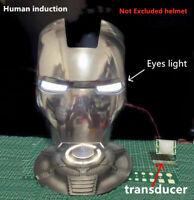 1:1 LED Light Eyes Human Sensor For Ironman Batman Black Panther Helmet Eye DIY