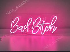 "New Bad Bitch Neon Sign Acrylic Gift Light Lamp Bar Wall Room Decor 15""x10"""