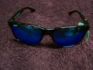 CALCUTTA CATALINA TORTOISE  FRAME BLUE MIRROR POLARIZED LENS SUNGLASSES NEW