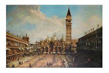 Antonio Canaletto Piazza San Marco in vendig poster stampa d'arte immagine 80x105cm