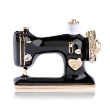 Pin Gifts Women Accessories Jewelry Black Sewing Machine Brooch Enamel Brooch