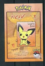 Liberia 2001 MNH Pokemon 1v S/S II Pichu #172 Nintendo CREATURES Stamps