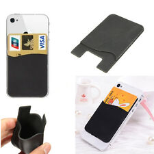 Silicone Credit ID Card Adhesive Sticker Holder Case For iPhone 4 5 5s 6 6s Plus