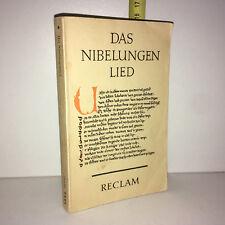 Felix Genzmer DAS NIBELUNGENLIED Philipp Reclam 1967 - ZZ-5459