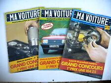 automobile revues MA VOITURE lot 3 revues n° 73 74 76  - 1980