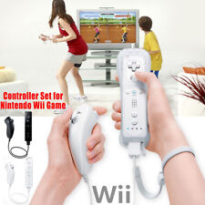 White Remote Wiimote Nunchuck Controller Set Combo for Nintendo Wii Game
