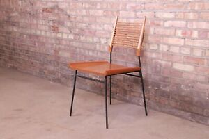 """Paul McCobb Maple and Iron """"Shovel"""" Chair, Newly Refinished"""