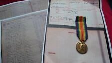 WW1 VICTORY MEDAL - CIVIL SERVICE RIFLES - 15 LONDON REGIMENT