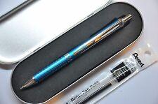 Pentel Energel Rollerball Pen Sky Blue Barrel with free refill