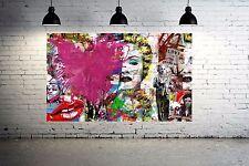 Banksy Collage Street Art Canvas Print Marilyn  36 x 24 print  Insane  - Vol. 3