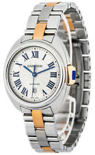 New Cartier Cle Silvered Dial 18k Gold Automatic Women's Watch W2CL0004