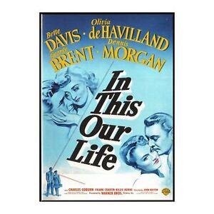 In This Our Life - Bette Davis,Olivia de Havilland, John Huston New Region 2 DVD