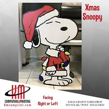 Yard sign Christmas Snoopy Weather proof Great Quality art
