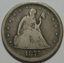 = 1875-S VG+ TWENTY Cent PIECE, Nice EYE Appeal, FREE SHIPPING