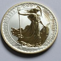 2006 ROYAL MINT BRITANNIA £2 TWO POUND .958 SILVER GOLD PROOF 1oz COIN