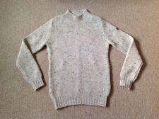 Hawick Knitwear para hombre adulto en Cuello Cachemira Suéter Talla M Avena Jumper