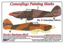 "AML Models 1/32 HAWKER HURRICANE Mk.II ""A"" PATTERN Camouflage Paint Mask Set"