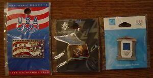NOGANO JAPAN 1998, SALT LAKE CITY UTAH 2002, ATHENS GREECE 2004 OLYMPIC 3 PIN'S