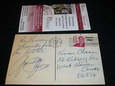 Grandpa Jones Banjo Auto Signed Vintage 1981 Hand Written Postcard JSA RARE M7