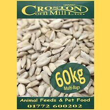 60kg Sunflower Hearts PREMIUM BAKERY GRADE Wild Bird Food Dehulled Seeds Kernels