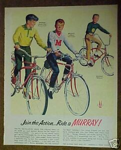 1966 Murray Strato Flite~Wildcat~Lemans Bicycle~Light~Middleweight Boys Bikes Ad