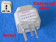 UK AU EU US to Israel Universal Travel Adaptor AC Power Plug Flat Rectangle Pins